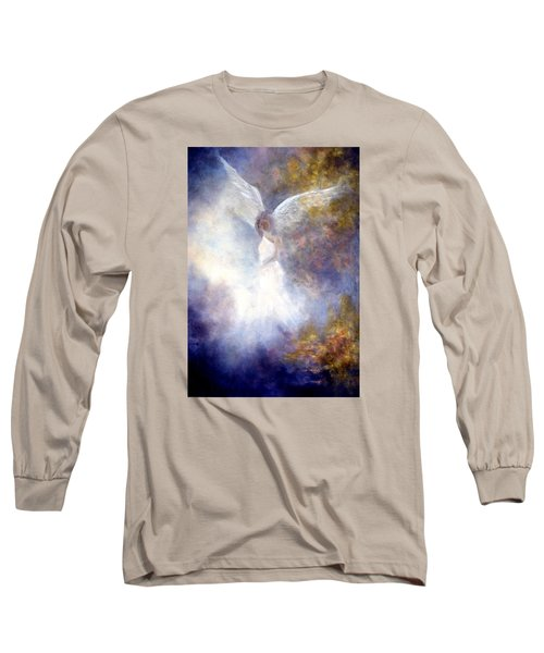 Long Sleeve T-Shirt featuring the painting The Guardian by Marina Petro