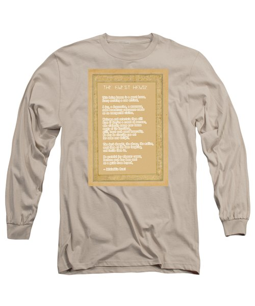 The Guest House Poem By Rumi Long Sleeve T-Shirt by Celestial Images