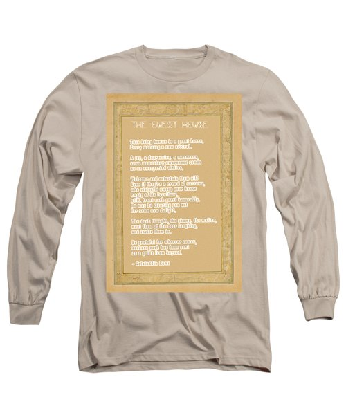 The Guest House Poem By Rumi Long Sleeve T-Shirt