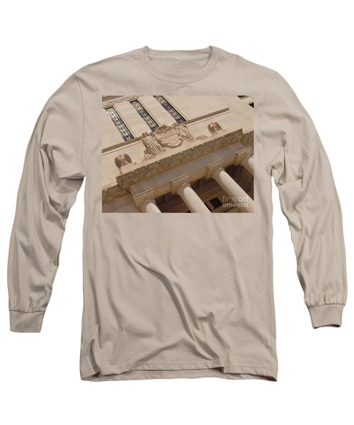 Long Sleeve T-Shirt featuring the photograph The Historical Federal Reserve Bank Of Dallas by Robert ONeil
