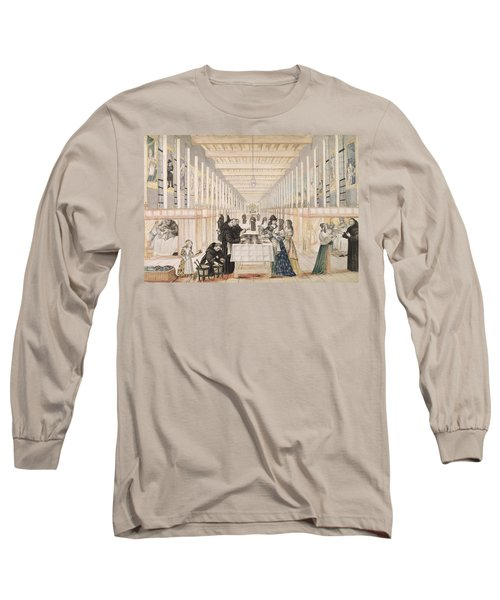 The Infirmary Of The Sisters Of Charity During A Visit Of Anne Of Austria  Long Sleeve T-Shirt