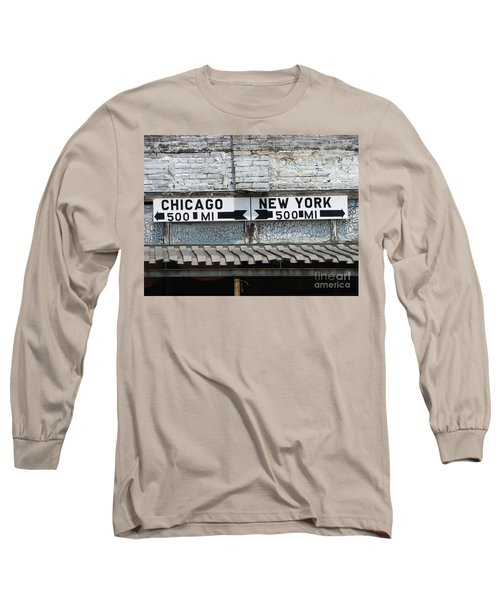 The Intersection II Long Sleeve T-Shirt by Michael Krek