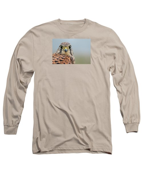 The Kestrel Face To Face Long Sleeve T-Shirt by Torbjorn Swenelius