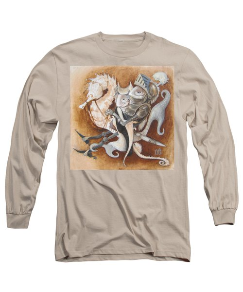 Long Sleeve T-Shirt featuring the painting The Knight Tale by Marina Gnetetsky