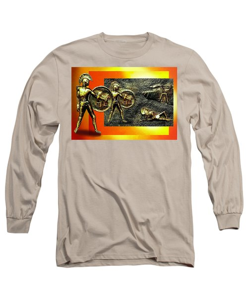 Long Sleeve T-Shirt featuring the relief The Legends Of Troy. . .  by Hartmut Jager