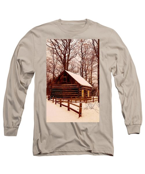 The Log Cabin At Old Mission Point Long Sleeve T-Shirt
