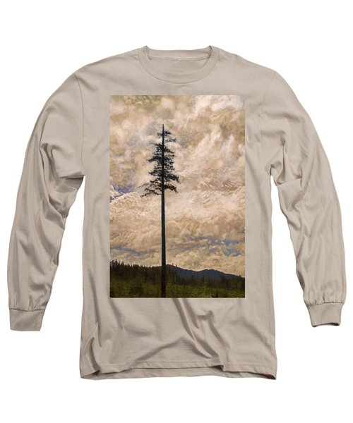 The Lone Survivor Stands In Tranquility Long Sleeve T-Shirt by Peggy Collins