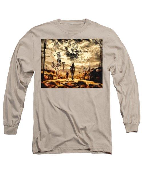 The Lone Wanderer Long Sleeve T-Shirt by Joe Misrasi