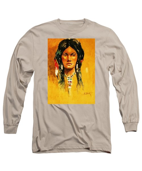 The Maiden Ll Long Sleeve T-Shirt by Al Brown