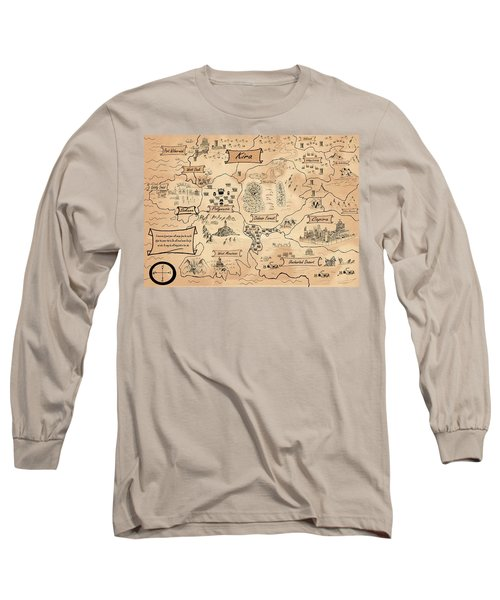 Long Sleeve T-Shirt featuring the painting The Map Of Kira by Reynold Jay