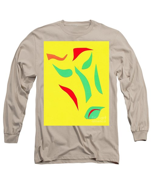 Long Sleeve T-Shirt featuring the mixed media The Mask by Delin Colon
