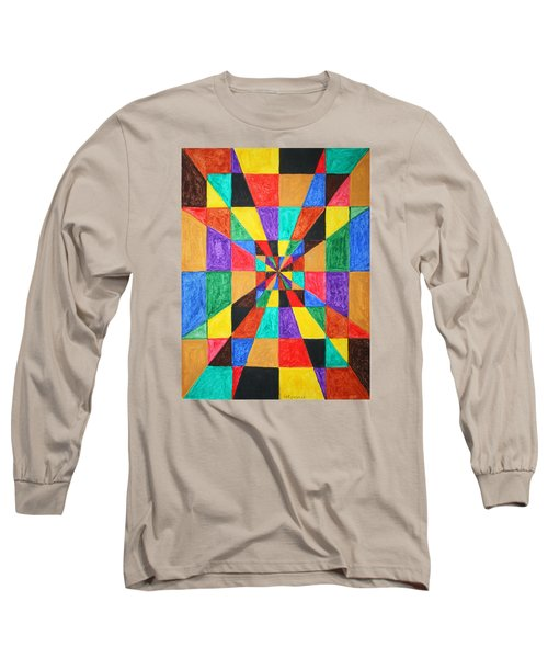 Long Sleeve T-Shirt featuring the painting The Matrix  by Stormm Bradshaw
