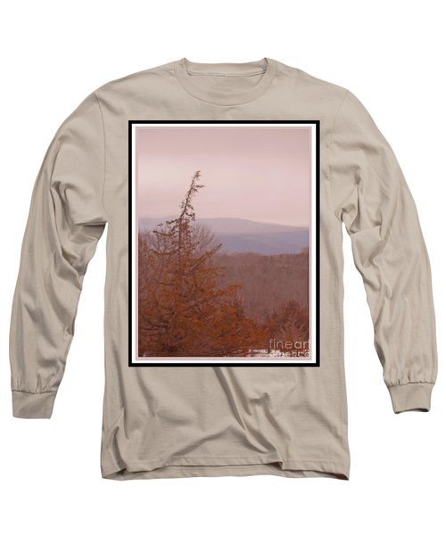 The Misty Mountains On A Misty Day Long Sleeve T-Shirt by Patricia Keller