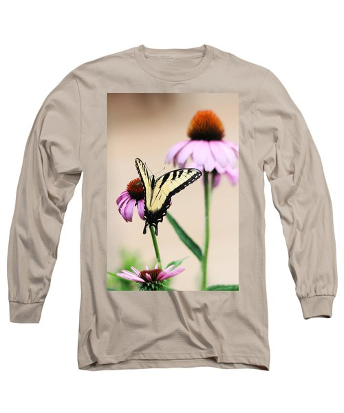 Long Sleeve T-Shirt featuring the photograph The Swallowtail by Trina  Ansel