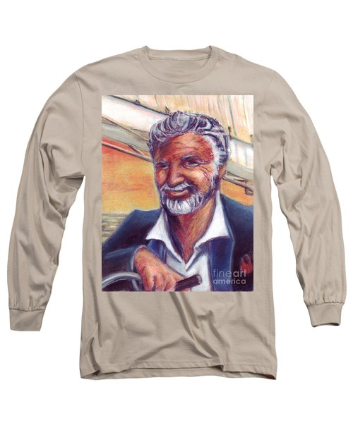 The Most Interesting Man In The World Long Sleeve T-Shirt by Samantha Geernaert