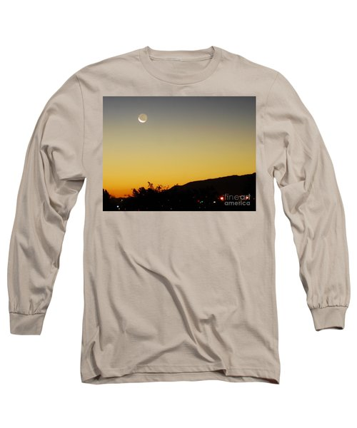 Long Sleeve T-Shirt featuring the photograph The Night Moves On by Angela J Wright