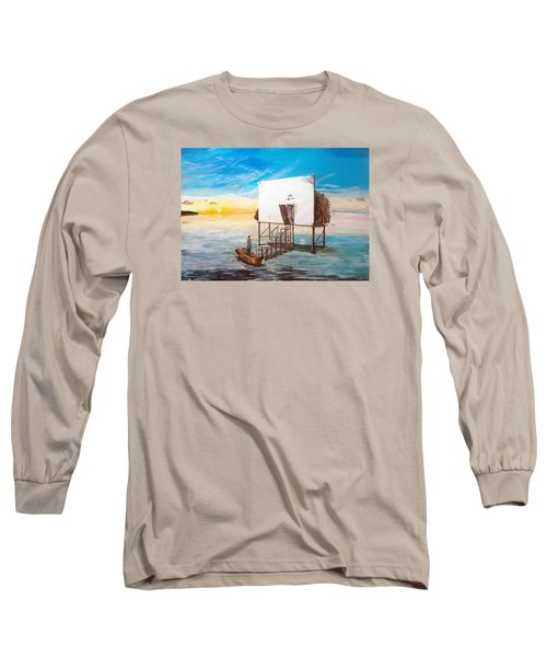 The Occult Listen With Music Of The Description Box Long Sleeve T-Shirt by Lazaro Hurtado