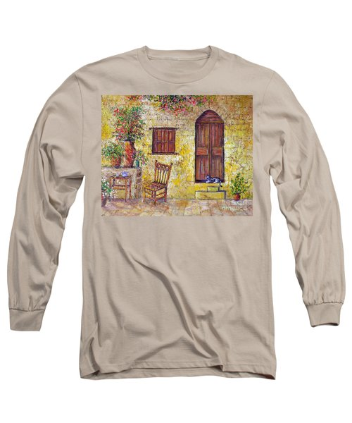 Long Sleeve T-Shirt featuring the painting The Old Chair by Lou Ann Bagnall