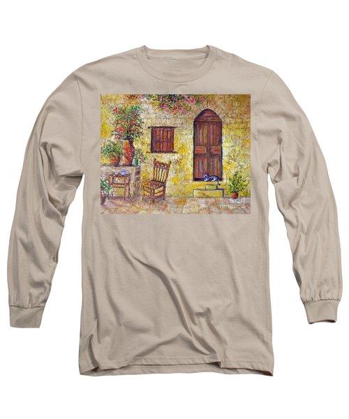 The Old Chair Long Sleeve T-Shirt by Lou Ann Bagnall