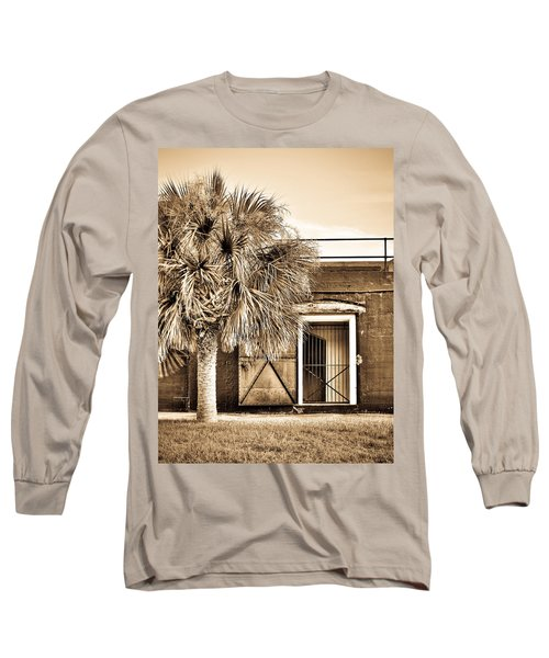 The Old Fort-sepia Long Sleeve T-Shirt