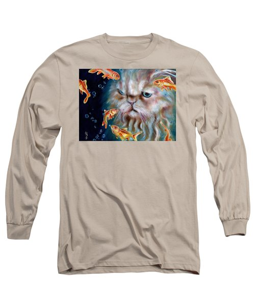 Long Sleeve T-Shirt featuring the painting The Other Side Of Midnight by Hiroko Sakai
