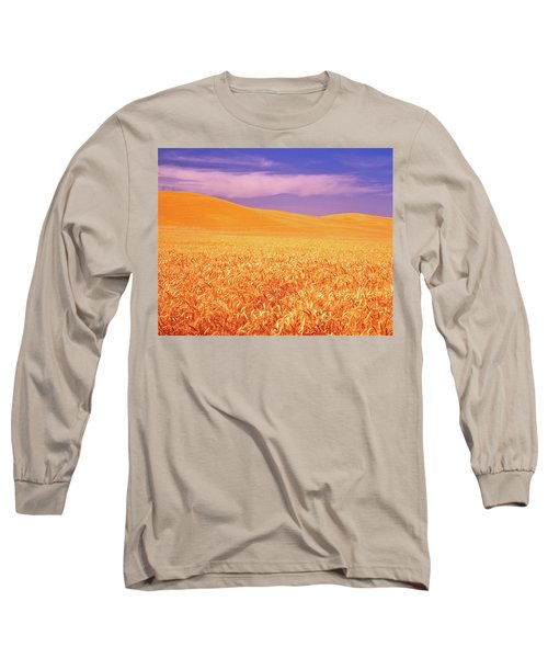 The Palouse Steptoe Butte Long Sleeve T-Shirt