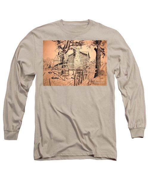 The Pig Sty Long Sleeve T-Shirt by Kip DeVore