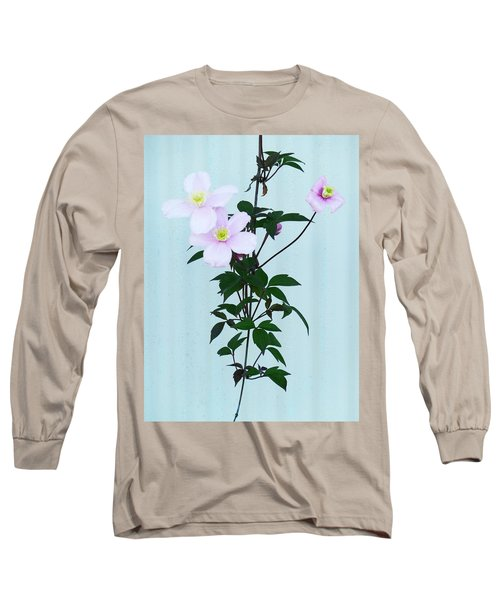 The Pink Clematis Long Sleeve T-Shirt by Steve Taylor