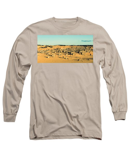 Long Sleeve T-Shirt featuring the photograph The Pinnacles Australia by Yew Kwang