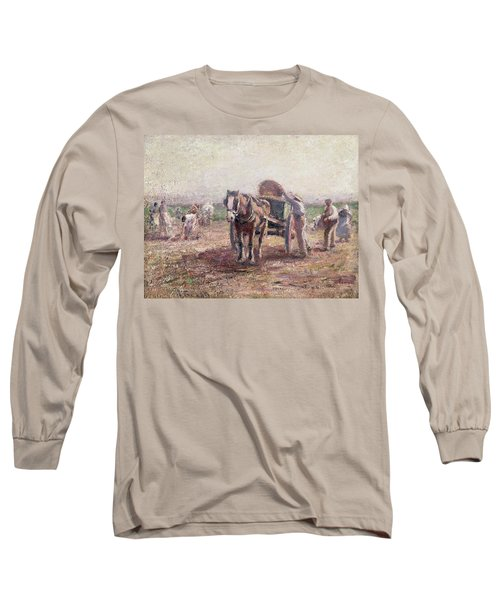 The Potato Pickers Long Sleeve T-Shirt by Harry Fidler