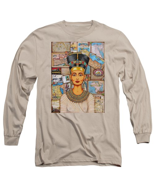The Queen Of Amarna Long Sleeve T-Shirt by Joseph Sonday