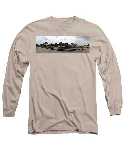 Long Sleeve T-Shirt featuring the photograph The Railroad From The Series View Of An Old Railroad by Verana Stark
