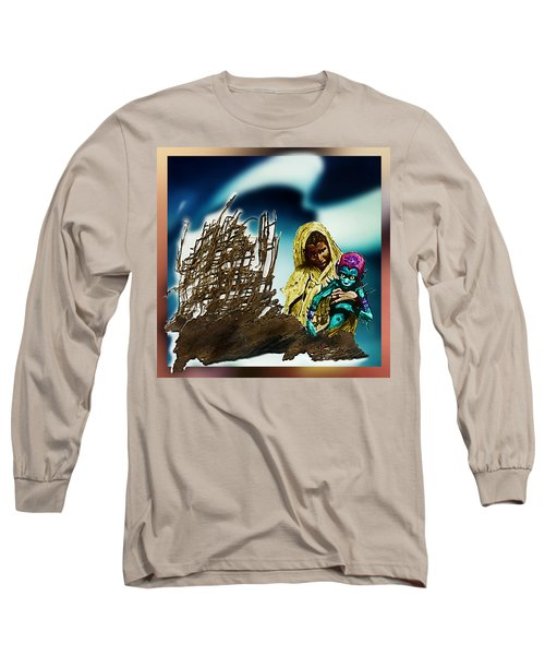 Long Sleeve T-Shirt featuring the photograph The Rescued  Alien  Child by Hartmut Jager