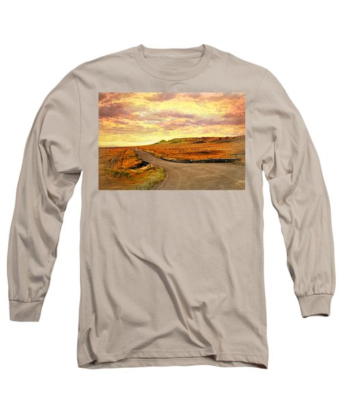 Long Sleeve T-Shirt featuring the photograph The Road Less Trraveled Sunset by Marty Koch