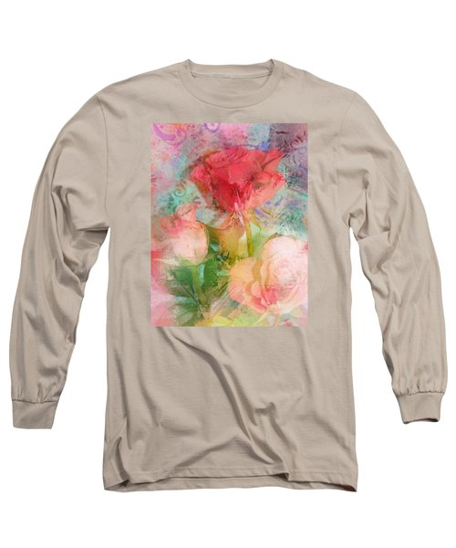 The Romance Of Roses Long Sleeve T-Shirt by Carla Parris
