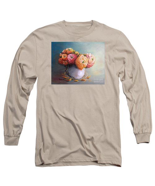 Long Sleeve T-Shirt featuring the painting The Scent Of Flowers by Vesna Martinjak
