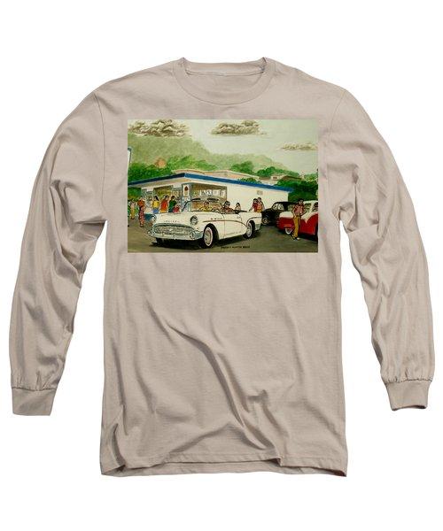 The Shake Shoppe Portsmouth Ohio 1960 Long Sleeve T-Shirt by Frank Hunter