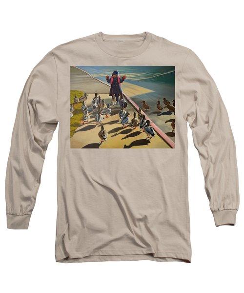 The Sidewalk Religion Long Sleeve T-Shirt by Thu Nguyen