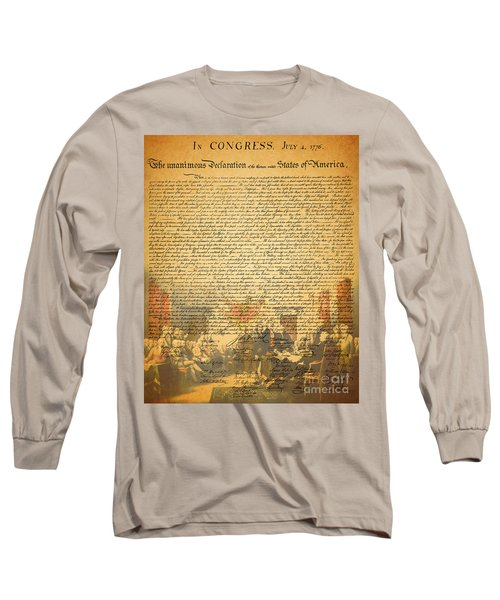 The Signing Of The United States Declaration Of Independence Long Sleeve T-Shirt