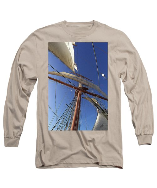 The Star Of India. Mast And Sails Long Sleeve T-Shirt