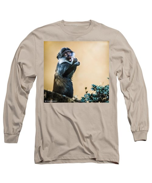 Long Sleeve T-Shirt featuring the photograph The Starving Ape by Stwayne Keubrick