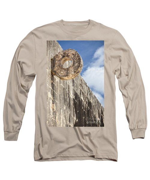 The Stone Ring At The Great Mayan Ball Court Of Chichen Itza Long Sleeve T-Shirt
