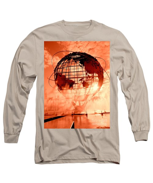 The Unisphere And Fountains Long Sleeve T-Shirt