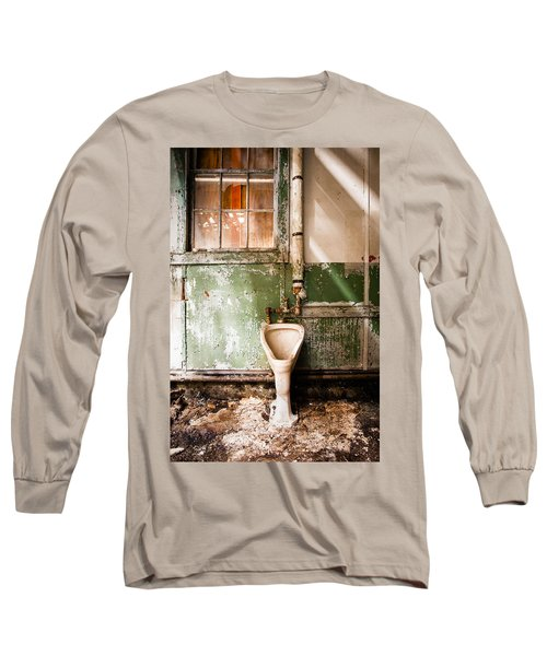 Long Sleeve T-Shirt featuring the photograph The Urinal by Gary Heller