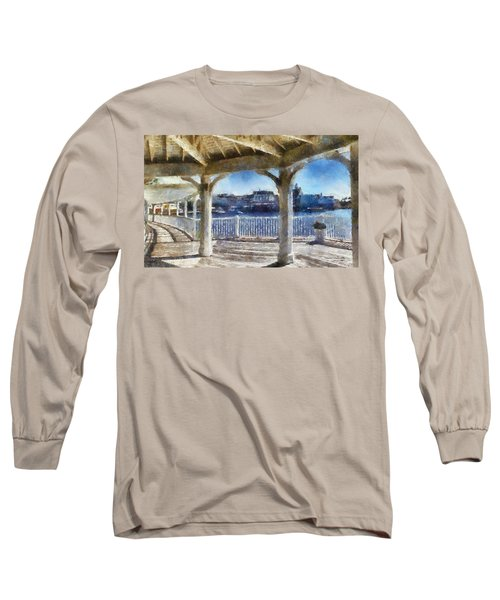 The View From The Boardwalk Gazebo Wdw 02 Photo Art Long Sleeve T-Shirt by Thomas Woolworth