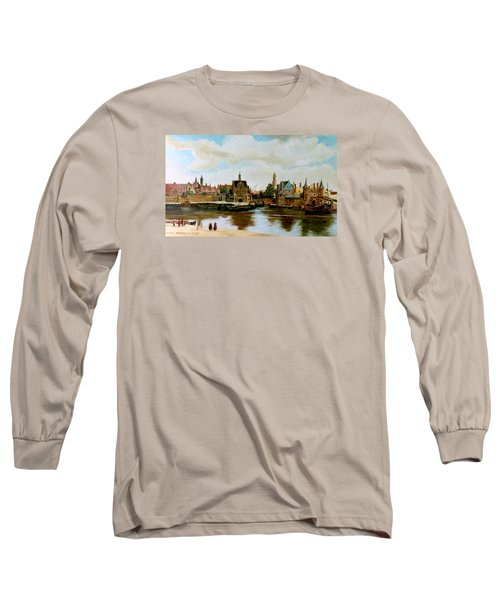 The View Of Delft Long Sleeve T-Shirt by Henryk Gorecki