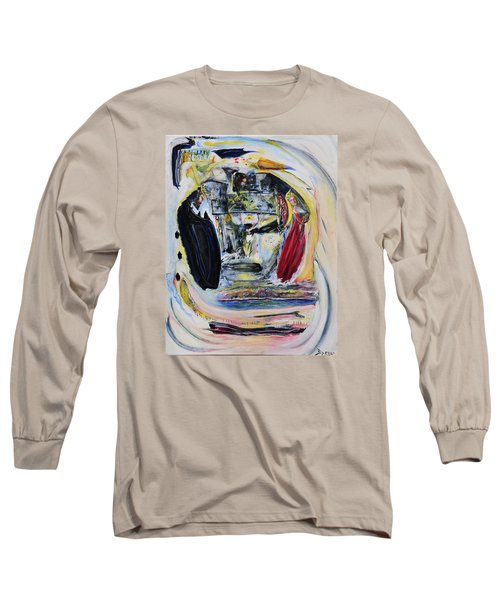 Long Sleeve T-Shirt featuring the painting The Vision Of Ironstar by Kicking Bear  Productions