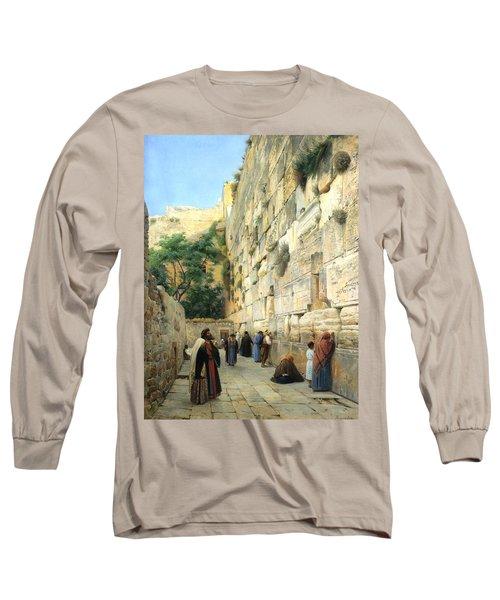 The Wailing Wall Jerusalem Long Sleeve T-Shirt