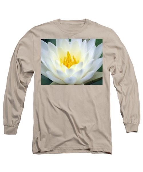 Long Sleeve T-Shirt featuring the photograph The Water Lilies Collection - 05 by Pamela Critchlow