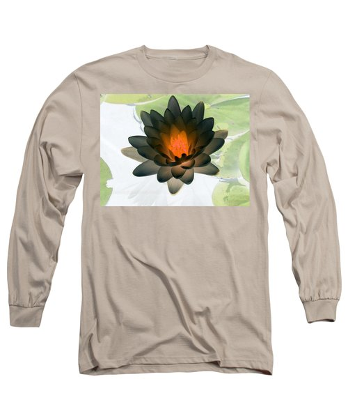 Long Sleeve T-Shirt featuring the photograph The Water Lilies Collection - Photopower 1035 by Pamela Critchlow